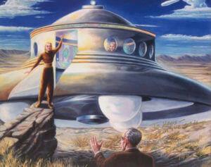 Kresba Nordičtí mimozemšťané